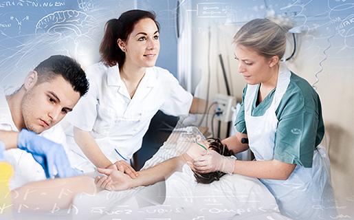 Kollage sjuksköterskor. Foto Peter Karlsson - Svarteld